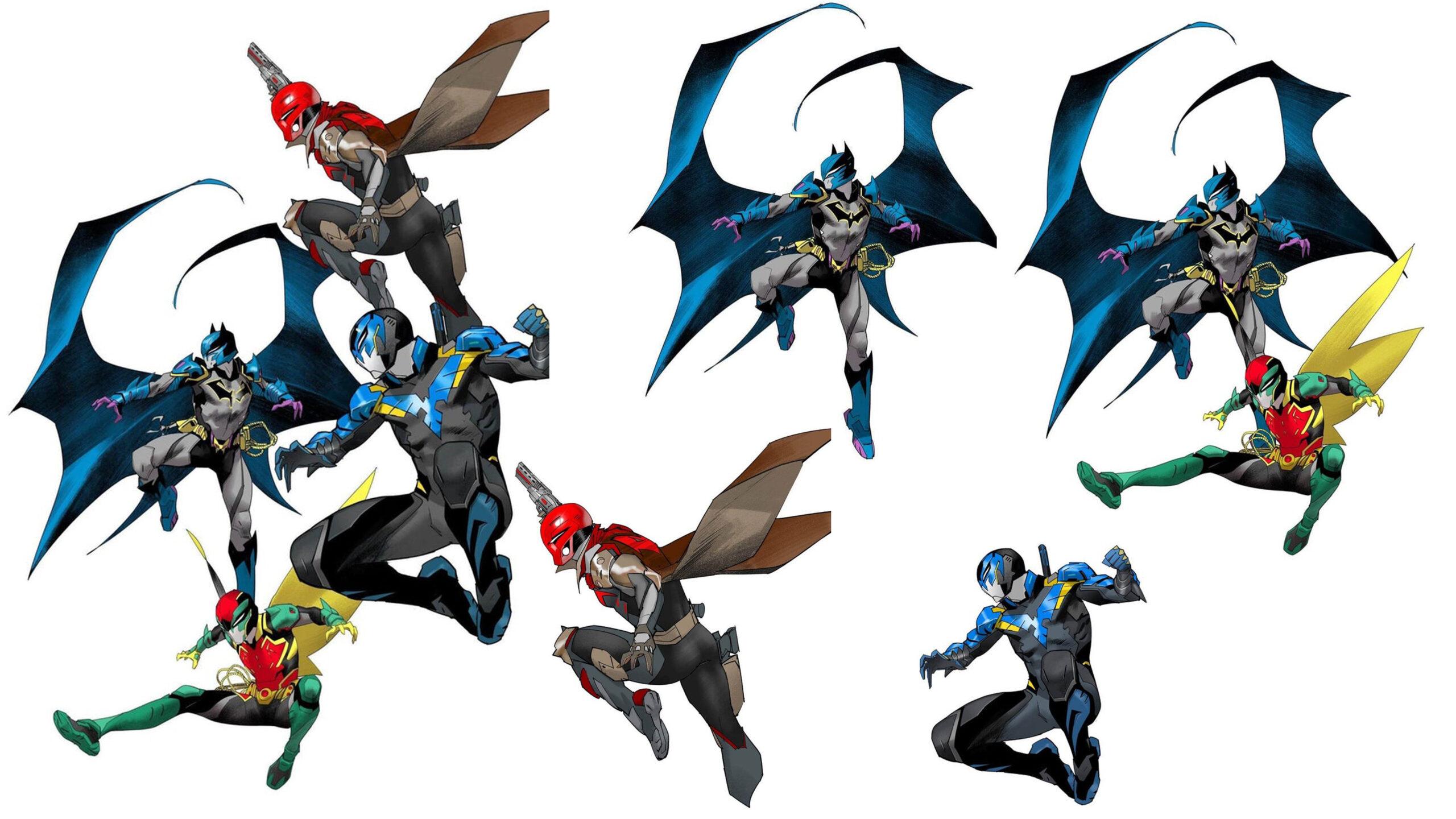 Power Rangers Artist Discloses New Batman Family Ranger Designs : Batman & Robin, Nightwing, Redhood, Batman & Sons