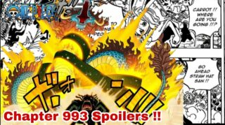 Pure New Spoilers For One Piece Chapter 993 Release Date, and much more.