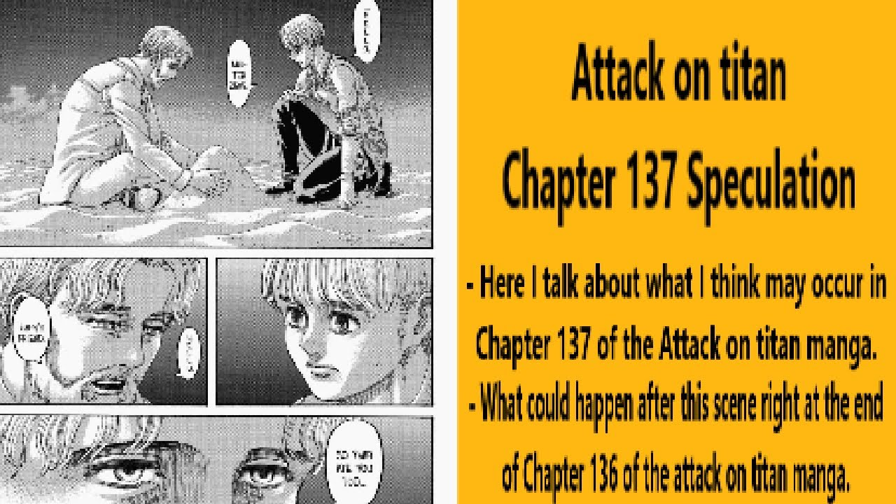 Assumptions and spoilers for Attack on Titan Chapter 137, Release date, Raw Scan and much more.